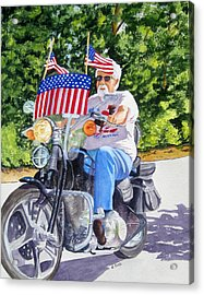 Bring On The Parade Acrylic Print by Julia Rietz