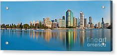 Brisbane City Reflections Acrylic Print by Az Jackson
