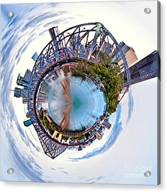 Brisbane Skyline Circagraph Acrylic Print by Az Jackson
