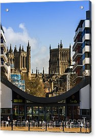 Bristol Cathederal Acrylic Print by Brian Roscorla
