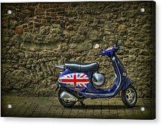 British At Heart Acrylic Print by Evelina Kremsdorf