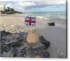 British Sandcastle Acrylic Print by Richard Reeve