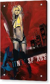 Britney Spears Acrylic Print by Corporate Art Task Force