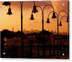 Broadway Junction In Brooklyn Acrylic Print by Monique Wegmueller