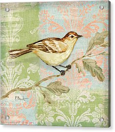 Brocade Songbird I Acrylic Print by Paul Brent