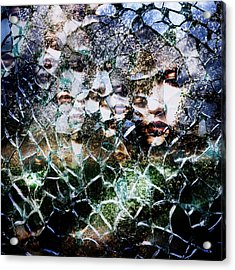 Broken Mind Acrylic Print by Azuto