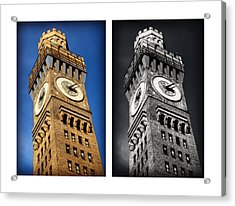 Bromo Seltzer Black And Blue Acrylic Print by Stephen Stookey
