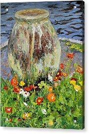 Brookgreen Urn Acrylic Print by Cecelia Campbell