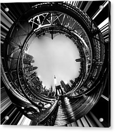 Brooklyn Bridge Circagraph 4 Acrylic Print by Az Jackson