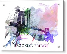 Brooklyn Bridge Acrylic Print by Stefan Kuhn