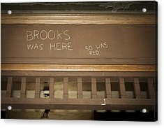 Brooks Was Here Acrylic Print by Jack R Perry