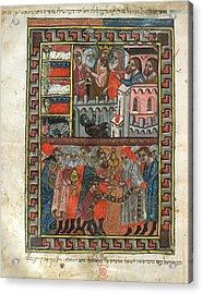 Brother Haggadah Acrylic Print by British Library