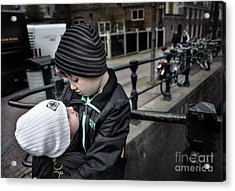 Brothers Acrylic Print by Michel Verhoef