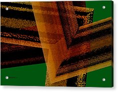 Brown And Green Art Acrylic Print by Mario Perez