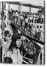 Brown Berets Leave Catalina Acrylic Print by Underwood Archives