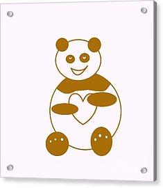 Brown Panda Acrylic Print by Ausra Huntington nee Paulauskaite