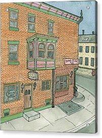 Brown Street Pub Acrylic Print by Cee Heard