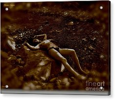 Brown Sugar - A Symphonic Tribute To Dreams And Rolling Stones. Acrylic Print by  Andrzej Goszcz