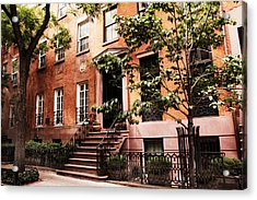 Brownstones Of Greenwich Village Acrylic Print by Jessica Jenney
