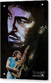 Bruce Springsteen. Acrylic Print by Andrzej Szczerski
