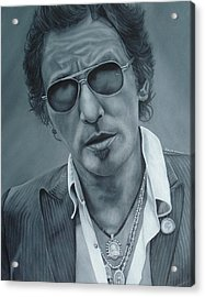 Bruce Springsteen IIi Acrylic Print by David Dunne