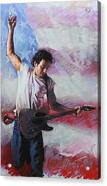 Bruce Springsteen The Boss Acrylic Print by Viola El