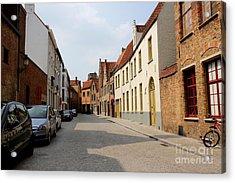 Bruges Side Street Acrylic Print by Carol Groenen