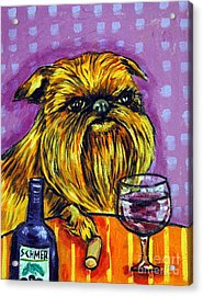 Brussels Griffon At The Wine Bar Acrylic Print by Jay  Schmetz