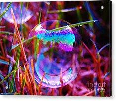 Bubble Illusions 2 Acrylic Print by Judy Via-Wolff