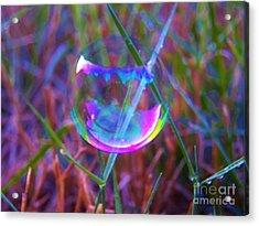 Bubble Illusions 3 Acrylic Print by Judy Via-Wolff