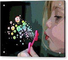 Bubble Magic Acrylic Print by Ellen Henneke