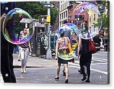 Bubblewalk Acrylic Print by Heidi Horowitz