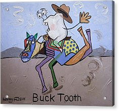 Buck Tooth Acrylic Print by Anthony Falbo