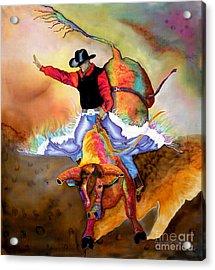 Bucking Bull Acrylic Print by Anderson R Moore