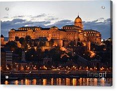 Budapest Palace At Night Hungary Acrylic Print by Imran Ahmed