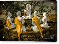 Buddha Lessons Acrylic Print by Adrian Evans