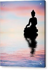 Buddha Reflection Acrylic Print by Tim Gainey