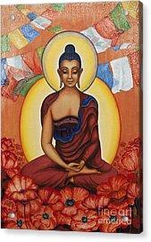 Buddha Acrylic Print by Yuliya Glavnaya