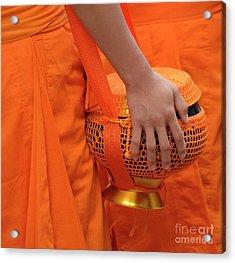 Buddhist Monks Hand Acrylic Print by Bob Christopher
