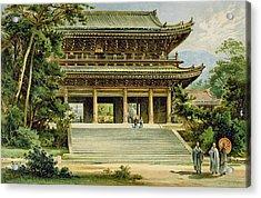 Buddhist Temple At Kyoto, Japan Acrylic Print by Ernst Heyn