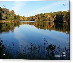 Buddy Attick Lake Park Acrylic Print by Emmy Marie Vickers
