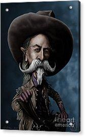 Buffalo Bill Acrylic Print by Andre Koekemoer