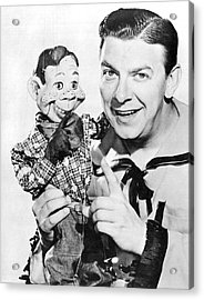 Buffalo Bob And Howdy Doody Acrylic Print by Underwood Archives