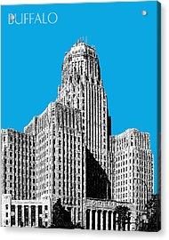 Buffalo New York Skyline 1 - Ice Blue Acrylic Print by DB Artist