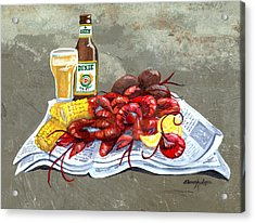 Bugs And Beer Acrylic Print by Elaine Hodges