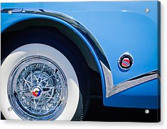 Buick Skylard Wheel Emblem Acrylic Print by Jill Reger