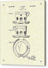 Building 1940 Patent Art Acrylic Print by Prior Art Design