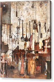 Building Trades - Hand Tools In Machine Shop Acrylic Print by Susan Savad