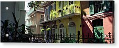 Buildings Along The Alley, Pirates Acrylic Print by Panoramic Images