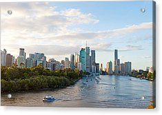 Buildings At The Waterfront, Brisbane Acrylic Print by Panoramic Images